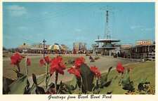 Bowling Green Kentucky Beech Bend Park Go-Cart and Midway Postcard J70592