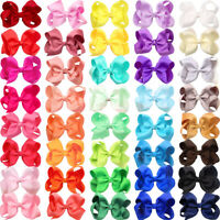 40 Pieces 4 Inch Big Hair Bows Alligator Hair Clips for Baby Girls,Toddler,Teens