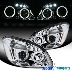 For 2005-2010 Chevy Cobalt 07-09 Pontiac G5 Halo Projector Headlights LED Tube