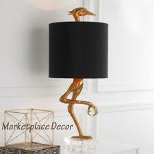 Ibis Table Lamp Heron Crane Bird Table Lamp Black Gold Cyan Design Z Gallerie