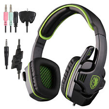 Sades 3.5mm Gaming Headset Headphone Headband Microphone For PC PS4 XBOX 360