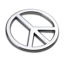 B113 Paix Emblème autocollants voiture badge Car Emblem Alu auto Argent