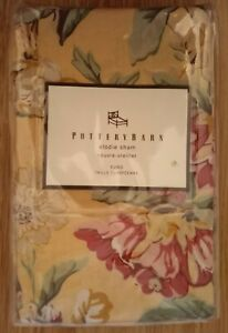 NIP POTTERY BARN Elodie Pillow Sham Euro Square Yellow French Country Cottagecor