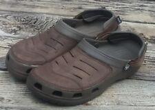Crocs Yukon Brown Clogs Sandals Shoes Men's Size 12 (Fast Shipping)