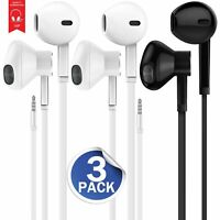 3-Pack Premium Earphones/Earbuds/Headphones with Stereo Mic&Remote Control fo...