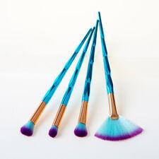 Set of4 Pro Diamond Cosmetic Fan Makeup Brushes Set Foundation Eyeshadow Brushes