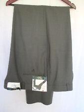 Palm Beach Reflex Dress Pants 48xUnhemmed NWT Gray Flat Front Polyester & Wool