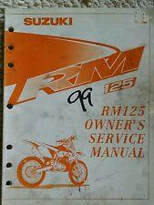 Suzuki 1999 RM125 Owners Service Manual
