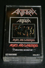 Anthrax Armed and Dangerous Cassette Megaforce  5 track Rare Canada Tape HTF OOP