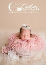 Large Peony Pink Vegan Curly Sheep Faux Fur, Newborn Photography Prop, Baby Prop