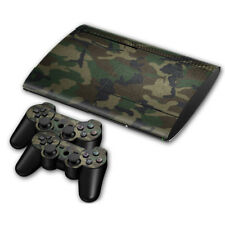 PLAYSTATION PS3 Super Slim URBAN CAMOUFLAGE CAMO ARMY STICKER SKIN &2 PAD Decals
