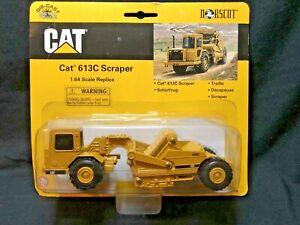 Norscot Diecast 1:64 Scale CAT 613C Scraper Caterpillar Toy Trucks 55708