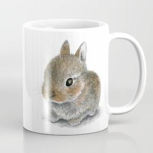 Rabbit 61 Hare Bunny Coffee Mug Cup 11oz or 15oz art L.Dumas