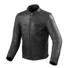 REV' ESSO MOTO pull-up Giacca in pelle Gibson Größe 52 NERO NUOVO
