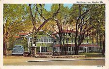 Missouri Mo Postcard 1942 NEOSHO Big Spring Inn Car