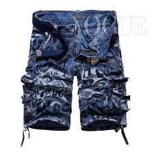 Summer Men's Casual Cargo Shorts Baggy Combat Camo Camouflage Short Pants 32-40