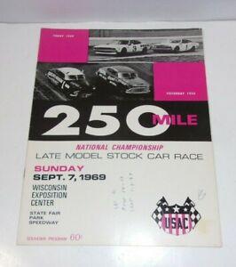 1969 Sept 7 Late Model National Championship Stock Car Racing Program Souvenir
