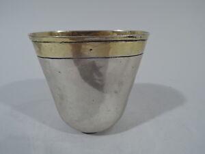 Antique Beaker - Cup  Nuremberg Hallmark  German Silver   18th C