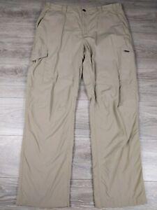 Columbia Omni Shade Men's 38X32 Lightweight Nylon Cargo Hiking Pants Beige