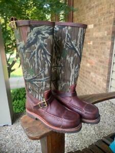 Russell Handmade Snake Boots Size 8.5 EE Mossy Oak