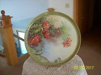 Tressemann and Vogt Limoges Antique Berry Leaf Porcelain China Charger Plate