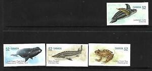 4 x Canadian 2007 MUH Sht stamps  (Endangered Species) ($1.75 Bargain)