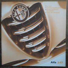 ALFA ROMEO 147 5 PORTE 2001 ORIG mercato britannico specifiche COLORI BROCHURE ETC