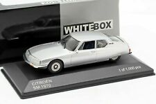 CITROEN SM 1970 SILVER WHITEBOX WB297 1/43 BLAU BLEU 1000 PCS METAL SILBER