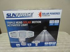 Sunforce 120 Led Triple Head Solar Powered Motion Activated 1000 Lms Flood Light
