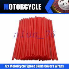 72Pcs Motorrad Universal Speichencover Speichenröhre Wheel Spoke Skip Caots red
