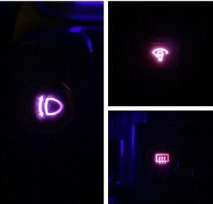 Headlight/Defrost/Dimmer Pink LED Bulb Combo Kit For Nissan S13 240SX 1989-1994