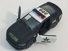 "New 5"" Kinsmart 2015 Ford Mustang GT Police Car 1:38 Diecast Model Toy Cop Car S"