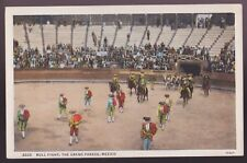 Vintage Postcard - Bull Fight, The Grand Parade, Mexico