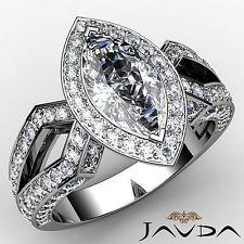 Marquise Shape Diamond Engagement Javda Excellent Ring GIA F SI1 Platinum 2.42ct