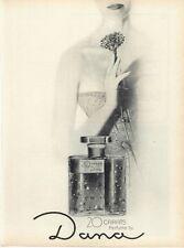 1961 Dana 20 Carats Perfume Vintage Bottles PRINT AD