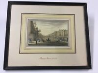 "Antique Engraving ""Regent Street, London"" Beautifully Framed"