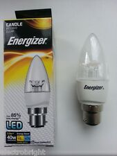 Energizer bougie led 5.9W = 40W bc clair blanc chaud non dimmable eco économie d'énergie