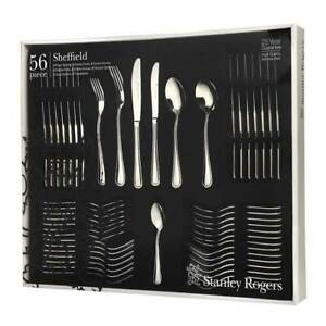 56 piece Stanley Rogers Sheffield Cutlery Set Stainless Steel Gift Box