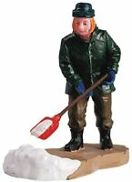 Lemax Christmas Village Town Clearing A Path 52049 Man Shoveling Snow Sidewalk