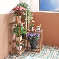 Wooden Plant Flower Pots Stand Shelf Corner Indoor Garden Planter Home Decor