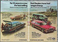 1978 Ford WAGONS 2-page advertisement, Ford FAIRMONT LTD PINTO CLUB WAGON VAN ad