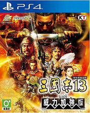 Sangokushi 13 with Power Up Kit HK Chinese subtitle Version PS4 NEW