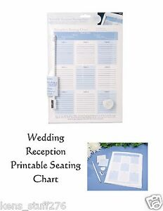 Wedding Reception Seating Charts, Victoria Lynn Printable Venue Plan 2 Sets/Pack