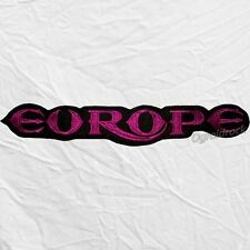 Europe Word Logo Embroidered Big Patch Back Rock Band Joey Tempest John Norum