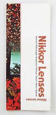 NIKKOR LENSES VINTAGE 1978 GUIDE BOOK
