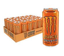 Juice Monster Khaos, Energy Drink, 16 Ounce Pack of 24