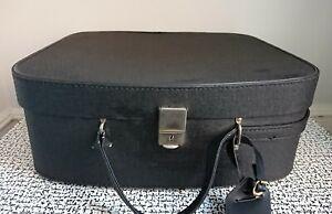 60s 70s Vintage Retro Black Foxcroft Vanity Case Suitcase Bag Display Prop MCM