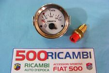 FIAT 500 F/L/R 126 KIT STRUMENTO TEMPERATURA OLIO ABARTH + BULBO INTICATORE BCO