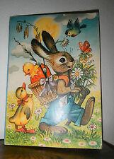 KUBASTA Ricky das Kaninchen Osterhase Ostern 3D Popup 50er/60er Aufstellbuch