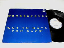 "Undertones ""Got To Have You Back/Turning Blue/Bye Bye Baby"",12"" Single, Nice EX!"